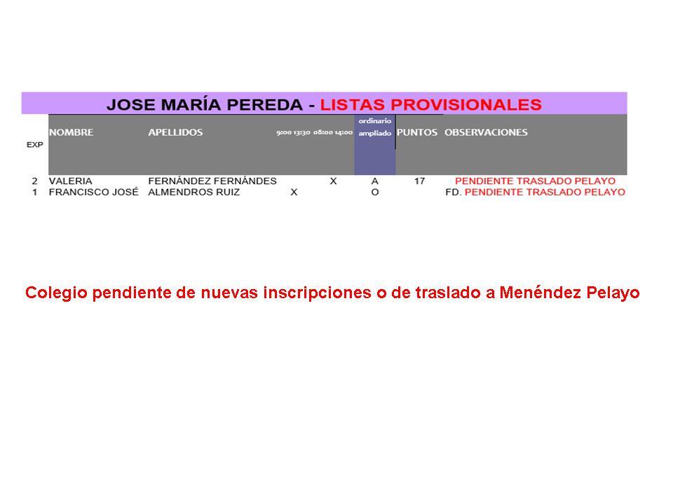 PROVISIONAL JOSE MARÍA PEREDA