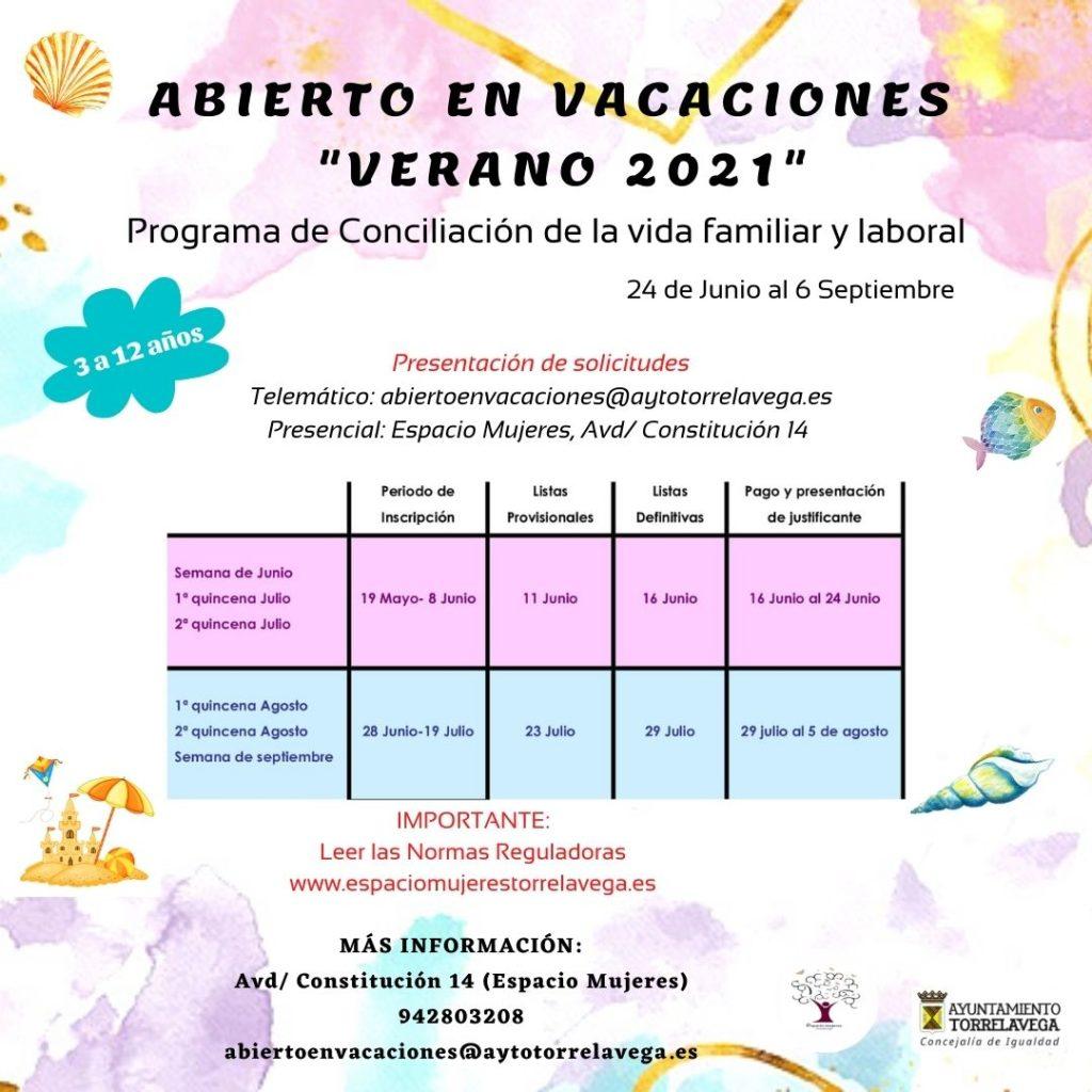 abierto en vacaciones verano 2021